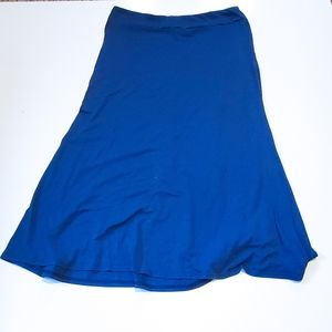 Blue Maxi Skirt By Life Style XL